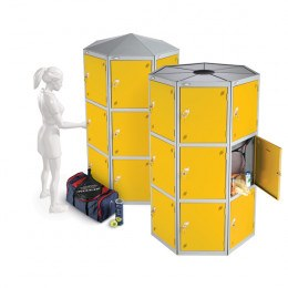 Probe 33 Compartment Retail Locker Pods