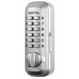 Lockey Digital Spare Door Key Safe - Satin Chrome