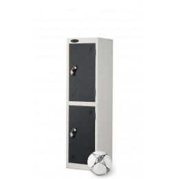 Probe 2 Door Low Locker 1210mm high black doors and silver body