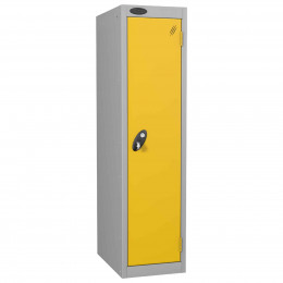 Probe Low 1 Door Steel Locker with Padlock Latch Hasp Lock yellow