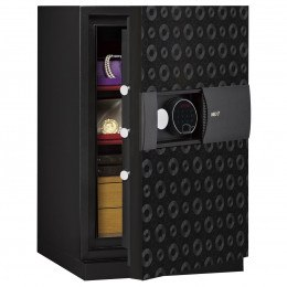 Phoenix Next LS7002FB Luxury Black 60 mins Fire Security Safe - door ajar