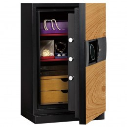 Phoenix Next LS7002FO Luxury Oak Panel 60 mins Fire Security Safe - door ajar