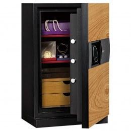 Phoenix Next LS7002FO Luxury Oak Panel 60 mins Fire Security Safe - door ajar