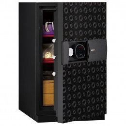 Phoenix Next LS7003FB Luxury Black 60 mins Fire Security Safe - door ajar