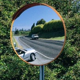Stainless Steel Outdoor Convex Mirror - Securikey M16047C 450mm post mounted