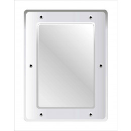 Stainless Steel  Vanity Mirror 40x30cm | Securikey M16243R
