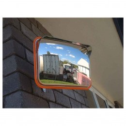 Securikey M16336C Stainless Steel Convex Mirror 225x320mm Post Fixed