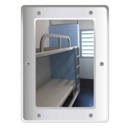 Securikey M16243R Flat Polycarbonate Anti-Vandal Vanity Mirror 40x30cm - anti vandal