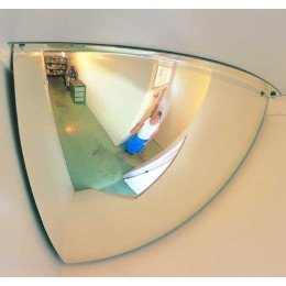Securikey M18541H 1/4 Dome Convex Wall Mirror 300x300mm