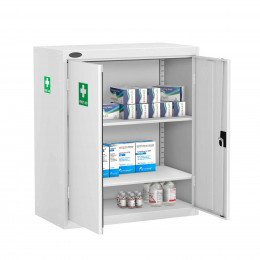 Probe MED-T Medical Low Double Door Steel Cabinet - doors open