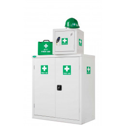 First Aid Low Double Door Steel Cabinet - Probe