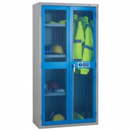 PPE Mesh 2 door Cabinet with Central Divider