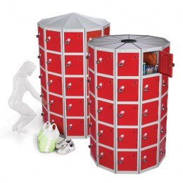 Probe Space Saving 55 Compartment Locker Pod