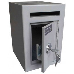 Burton Mini Teller Day Deposit Safe Key Locking  - door ajar