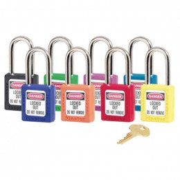 Master Lock Zenex 410 Key Retaining Safety Padlock all colours