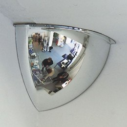 Panoramic 1/4 Dome 90deg Small Convex Acrylic