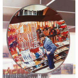Moravia Detective-X Convex Acrylic Security Mirror 50cm for retail security in shops