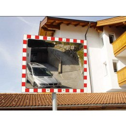 Stainless Steel Convex Traffic Mirror 40x60cm Durabel 1