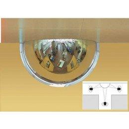 Wide Angle Half Dome Wall Mirror 90cm - Panoramic 180