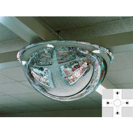 Panoramic Ceiling Dome 360deg 600mm Acrylic Mirror
