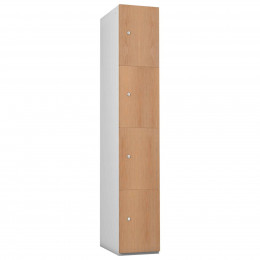 Probe 4 Door Oak TimberBox MDF Woodgrain Door Steel Locker