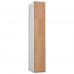 4 Door Steel Locker - Woodgrain MDF- Probe Timberbox