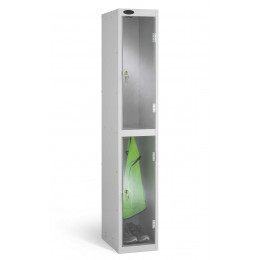 2 Clear Door Steel Locker - Anti Theft Security - Probe