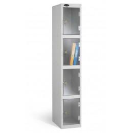 Probe 4 Door Padlock Locking Clear Vision Anti-Theft Locker silver grey