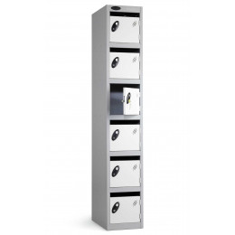 Probe Postbox 6 Door Locker 305x305 Key Lock white doors closed