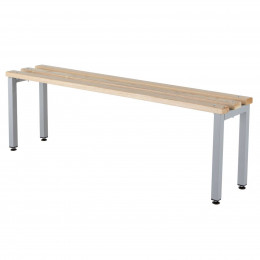 Probe Locker Freestanding Bench with Ash Wood Slats in a choice of 4 lengths