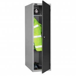 Probe 1 Door Police Combination Locking Large Extra Deep Locker black door