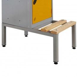 Probe LSS Locker Bench with Integral Locker Stand showing fitted locker on a single locker size