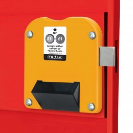 For New and Old £1 Coins - Probe Locker Type H-2 Coin Lock
