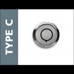 Probe Locker Type C Radial Pin Key Lock with 2 Keys
