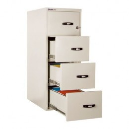 Chubbsafes 25 4 Drawer 1 Hour Fireproof Filing Cabinet - all 4 drawers open