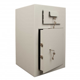 De Raat PT-D3 Key Locking Deposit Safe - doors ajar