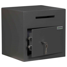 De Raat Protector DS Deposit 1K Key Locking Letter Slot Drop Safe - door ajar