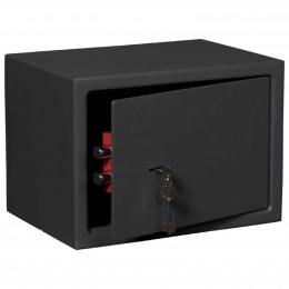 De Raat Protector Sirius 250K Small Key Lock Security Safe - safe door open with twin live locking bolts