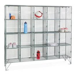 20 Door Locker - Metal Wire Mesh Storage -1360x1525x305