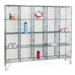Robinson 20 Door Metal Wire Mesh 1360x1525x450mm Storage Locker
