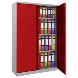 Phoenix SCL1491GRK Flat Packed Red Cupboard | Key Lock - open