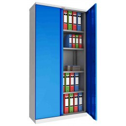 Phoenix SCL1891GBK Flat Packed Blue Cupboard | Key Lock