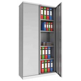Phoenix SCL1891GGK Flat Packed Grey Cupboard | Key Lock