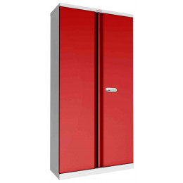 Phoenix SCL1891GRE Flat Packed Red Cupboard | Electronic