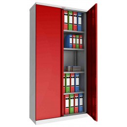Phoenix SCL1891GRK Flat Packed Red Cupboard | Key Lock