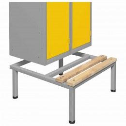 Probe LSS Locker Bench with Integral Locker Stand showing fitted locker on a double locker size