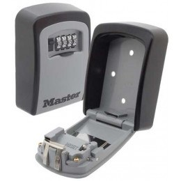 Grey and Black Master Lock Outdoor Key Safe Box. Wheel combination security hides 6-7 Yale style keys