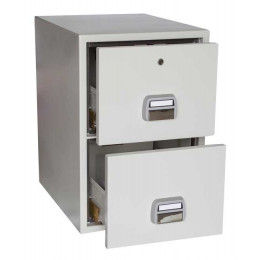 De Raat SF680-2DK 2 Drawer Fire Filing Cabinet 90 mins - open