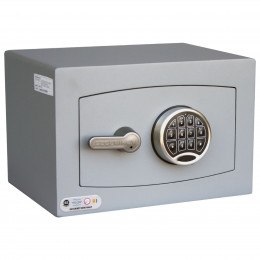 Digital Electronic Security Safe - Securikey Mini Vault Silver 0E - door closed