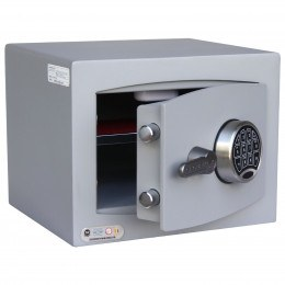 Securikey SFMV1FR-G Mini Vault Gold Key Lock Security Safe - door ajar